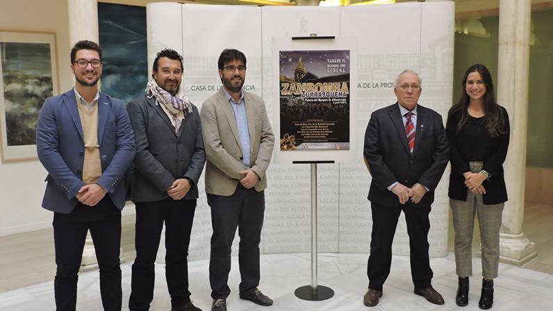 Presentación del cartel de la VI Zambomba Zurrasqueña en la Casa de la Provincia de la Diputación de Sevilla