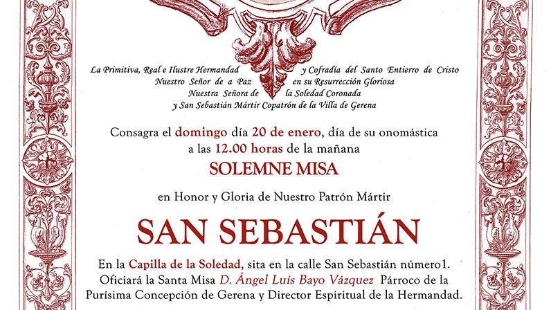 Santa Misa a San Sebastián 2019